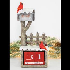 Hanna's Handiworks Cardinal Mailbox Countdown Tabletop Resin