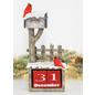 Hanna's Cardinal Mailbox Countdown Tabletop Resin