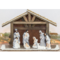 Hanna's Nativity Manger Set Wood & Resin