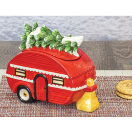 Hanna's Camper with Tree Ceramic Cookie Jar