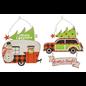 "Hanna's Retro Christmas Car or Camper Metal Hanger Assorted 12""x12""x0.25"""