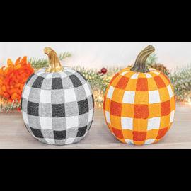 Hanna's Handiworks Variegated Resin Pumpkin Tabletop Assorted