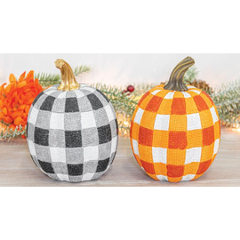 Hanna's Variegated Resin Pumpkin Tabletop Assorted
