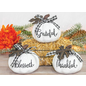 Hanna's Maple Bow White Pumpkin Greeter Assorted Resin/Metal