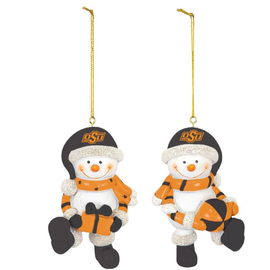 Hanna's Handiworks OSU Resin Snowman Ornament Set