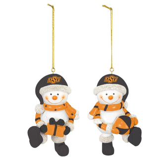 Hanna's Handiworks OSU Resin Snowman Ornament Set