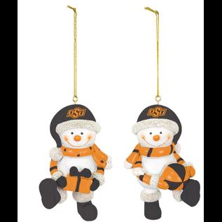 Hanna's OSU Resin Snowman Ornament Set