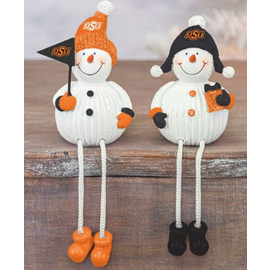 Hanna's OSU Resin Snowman Dangle Leg