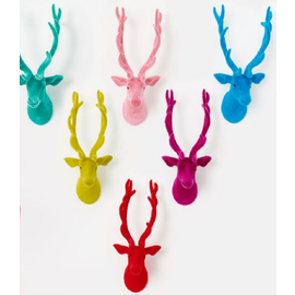 One Hundred 80 Degrees One Hundred 80 Degrees Flocked Deer Wall Mount 24 inch Assorted