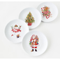 One Hundred 80 Degrees One Hundred 80 Degrees Gingerbread & Candy Cane Melamine Paper Plates set of 4 Assorted