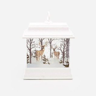 One Hundred 80 Degrees One Hundred 80 Degrees Deer White Silhouette Lantern Scene 8.5""