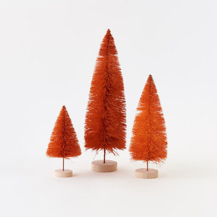 One Hundred 80 Degrees One Hundred 80 Degrees Orange Sisal Tree with Wood Base Assorted set of 3