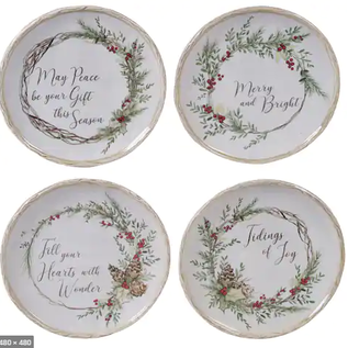 Certified International Certified International Holly & Ivy  Canape Plate Assorted 6 inch