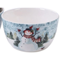 """Certified International Certified International Watercolor Snowman Ice Cream Bowl Assorted 5.5"""" x 3"""" CLOSEOUT/NO RETURNS"""
