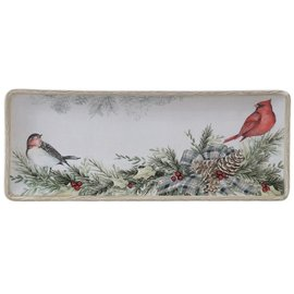 Certified International Certified International Holly & Ivy Rectangular Platter 14.5 inch