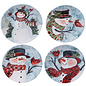 Certified International Certified International Watercolor Snowman Canape Plate Assorted 6 inch