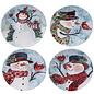 Certified International Certified International Watercolor Snowman Dessert Plate Assorted 9 inch