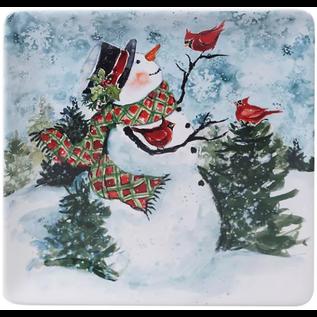 Certified International Certified International Watercolor Snowman Square Platter 12.5 inch