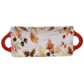 Certified International Certified International Harvest Splash Rectangular Platter with Handles 15.25 inch