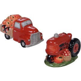 Certified International Certified International Harvest Bounty 3D Salt & Pepper Set Truck & Tractor