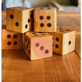 Inspire by Alton Carter Inspire Dice Large Set of 6 Cedar