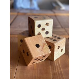 Inspire by Alton Carter Inspire Dice Large Set of 2 Cedar