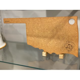 "Epicurean Epicurean Natural with Slate OSU Oklahoma Cut & Serve Board 17"" x 8"""