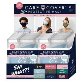 DM Merchandising Inc DM Merchandising Care Cover Say What?! Protective Face Mask Assorted