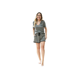 DM Merchandising Inc DM Merchandising Hello Mello Weekender Shorts Moss Medium