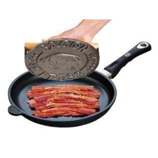 Harold Import Company Inc. HIC Bacon Press Cast Iron Round 7.75 inch