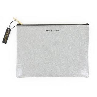 DM Merchandising Inc DM Merchandising Metallic Glitter Cosmetic Pouch Assorted