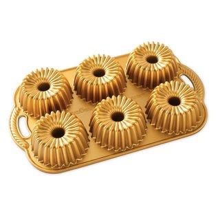 Nordic Ware Nordic Ware Brilliance Bundtlette Pan Gold 3 Cup