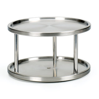 RSVP RSVP Stainless Steel Two-Tier Turntable
