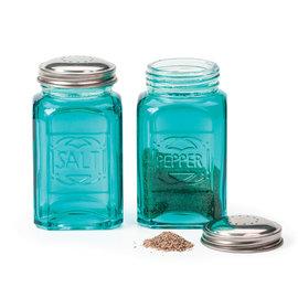RSVP RSVP 'Retro' S&P Shakers Glass 8 oz Turquoise
