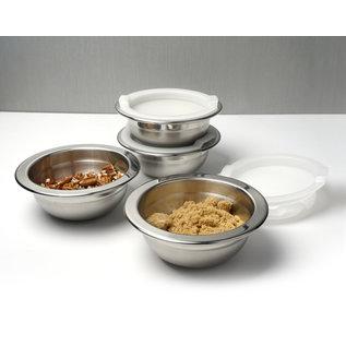 RSVP RSVP Endurance Stainless Steel 8 oz Prep Bowl & Lid Set of 4 each