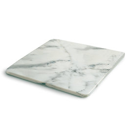 RSVP RSVP Natural White Marble Pastry Slab 18 inch x18 inch