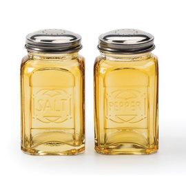 RSVP RSVP 'Retro' S&P Shakers Glass 8 oz Amber