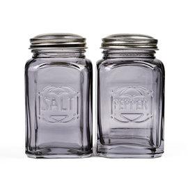 RSVP RSVP 'Retro' S&P Shakers Glass 8 oz Gray