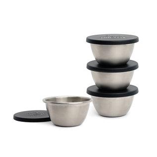 RSVP RSVP Endurance Stainless Steel 3 oz Cup & Lid set of 4 each