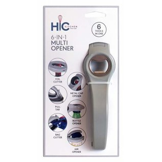 Harold Import Company Inc. HIC Beverage Opener 6-in-1