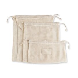 Harold Import Company Inc. HIC Beyond Gourmet Organic Cotton Produce Bags set of 4