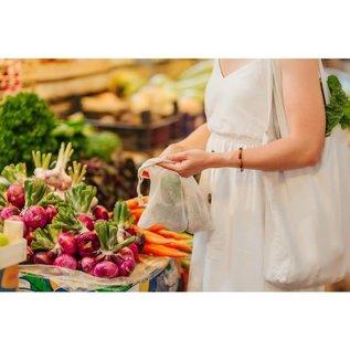 Harold Import Company Inc. HIC Beyond Gourmet Organic Cotton Produce Bags set of 4