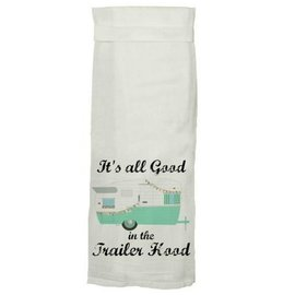 Twisted Wares Twisted Wares Hang Tight Flour Sack Towel Trailer Hood Aqua