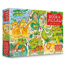 Usborne Usborne At the Zoo Book and Jigsaw Puzzle