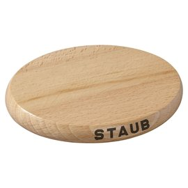 Staub Staub Cast Iron Accessories Oval Magnetic Wood Trivet 6 inch
