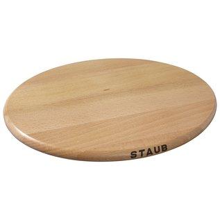Staub Staub Cast Iron Accessories Oval Magnetic Wood Trivet 11.4 inch