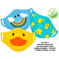 ZOOCCHiNi ZOOCCHiNi Organic Reusable Face Masks for Kids 3+ yr Multi 3 pc Set Duck CLOSEOUT/ NO RETURN