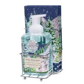 Michel Design Works Michel Design Works Foaming Hand Soap & Napkin Set Christmas Snow