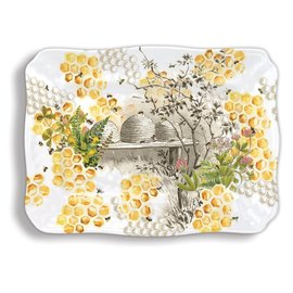 Michel Design Works Michel Design Works Melamine Serveware Large  Platter Honey & Clover