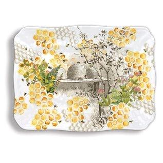 Michel Design Works Michel Design Works Melamine Serveware Large  Platter Honey & Clover